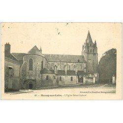 carte postale ancienne 45 MEUNG-SUR-LOIRE. Eglise Saint-Liphard 1908