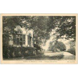 carte postale ancienne 45 MEUNG-SUR-LOIRE. Kiosque Parc du Château