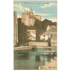 carte postale ancienne 45 MONTARGIS. Canal et Château. hôtel de la Sirène