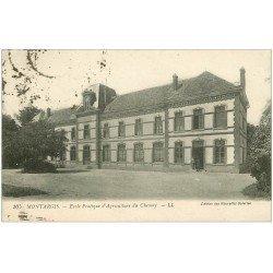 carte postale ancienne 45 MONTARGIS. Ecole d'Agriculture du Chesnay vers 1923...
