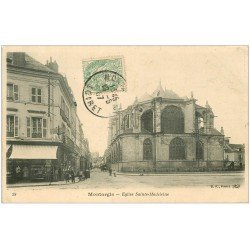 carte postale ancienne 45 MONTARGIS. Eglise Sainte-Madeleine 1907