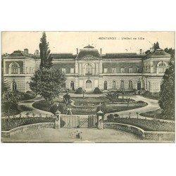 carte postale ancienne 45 MONTARGIS. Hôtel de Ville. Poinçon du Facteur 1915