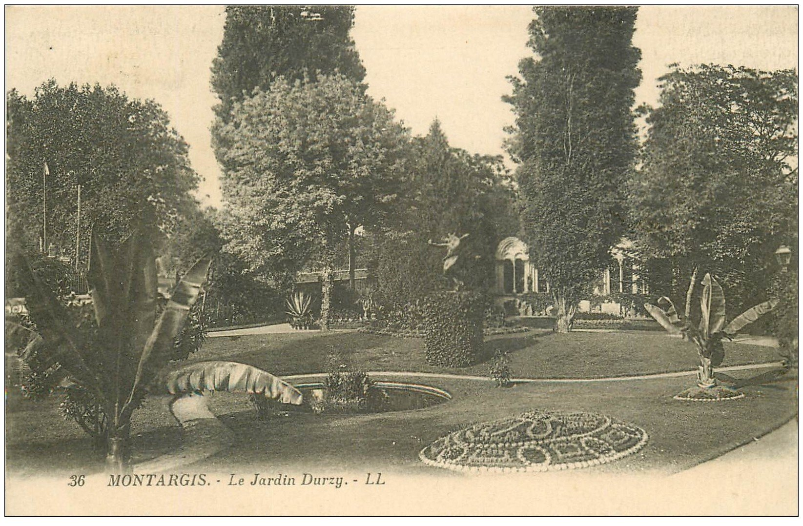 carte postale ancienne 45 MONTARGIS. Jardin Durzy 1925