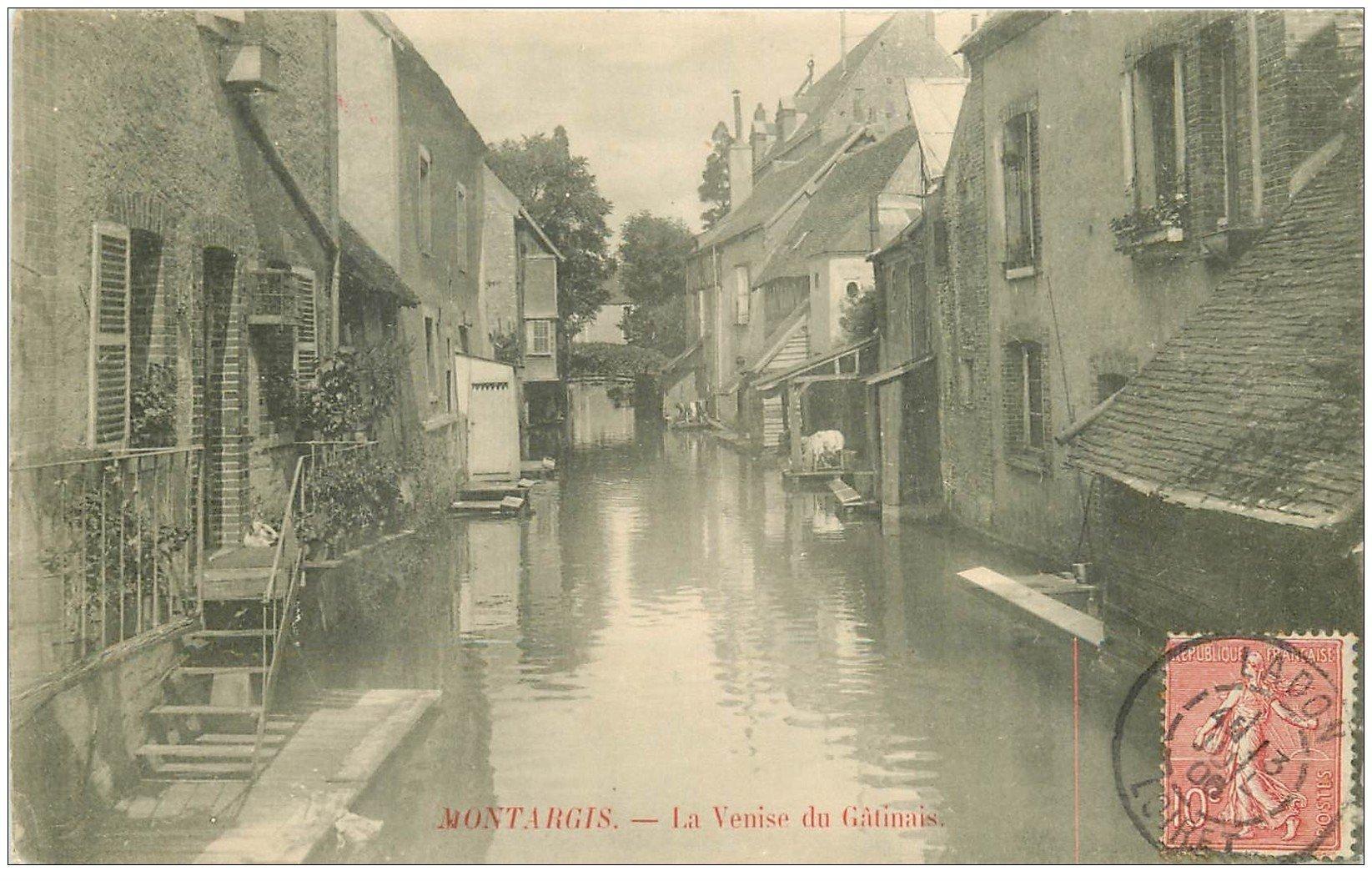 carte postale ancienne 45 MONTARGIS. La Venise du Gatinais 1906