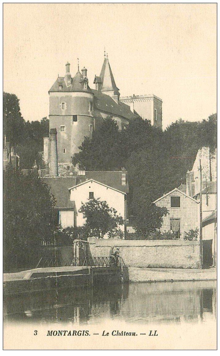 carte postale ancienne 45 MONTARGIS. Le Château 1928