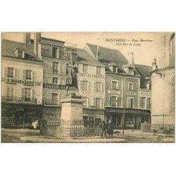 carte postale ancienne 45 MONTARGIS. Place Mirabeau Rue de Loing 1906