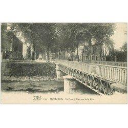 carte postale ancienne 45 MONTARGIS. Pont avenue de la Gare