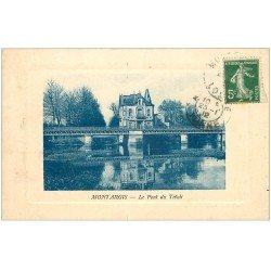 carte postale ancienne 45 MONTARGIS. Pont du Tivoli 1912