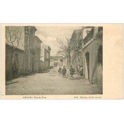 carte postale ancienne 11 AZILLE. Rue du Trou. Edition Salinier