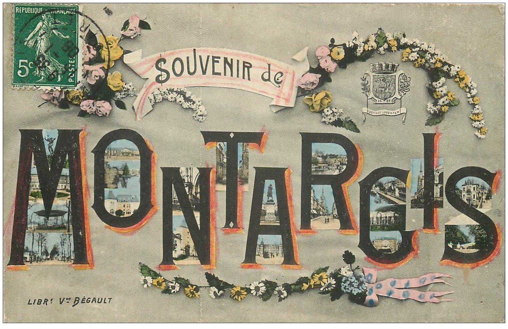 carte postale ancienne 45 MONTARGIS. Souvenir 1908