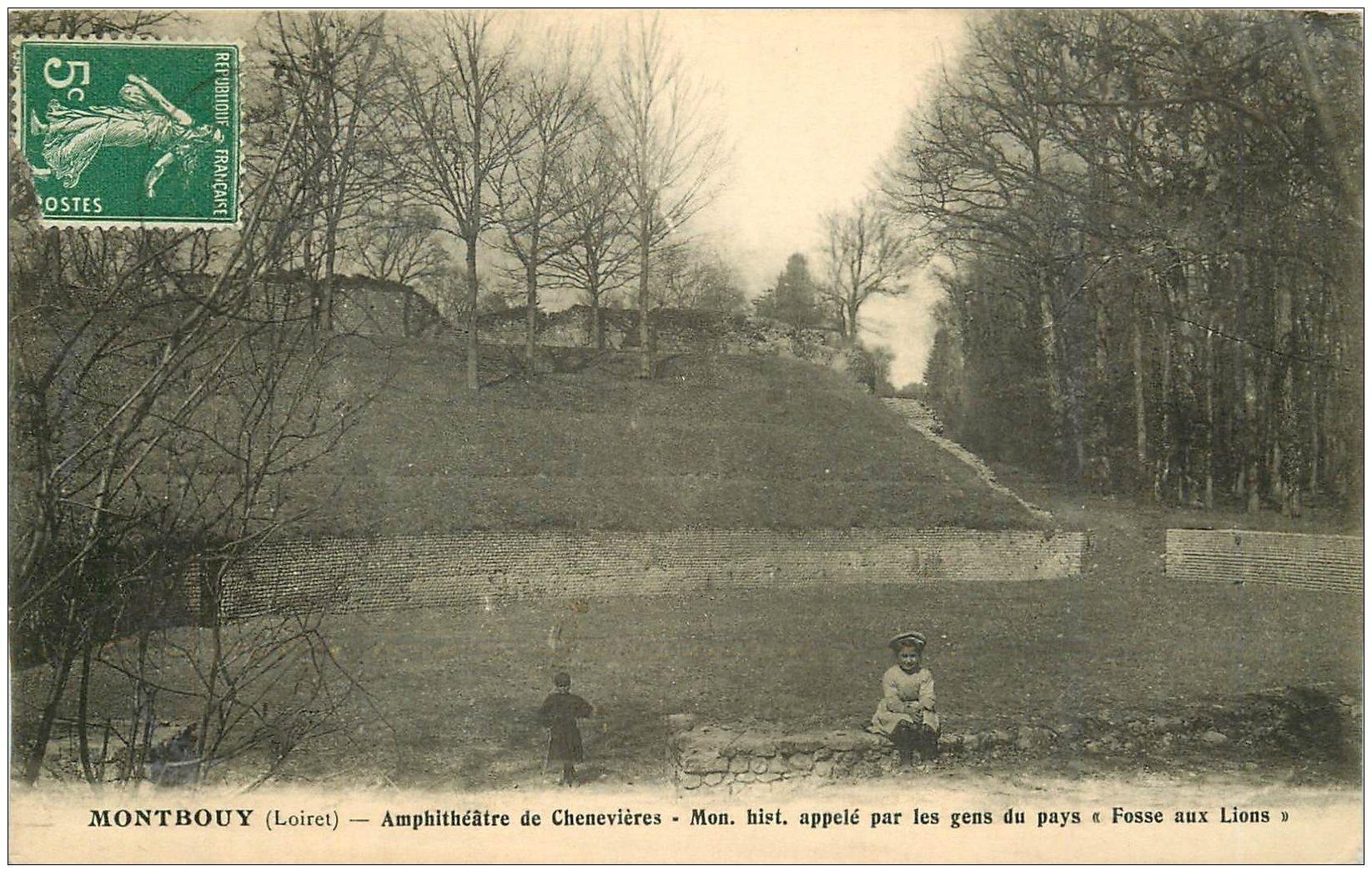 carte postale ancienne 45 MONTBOUY. Amphithéâtre de Chenevières