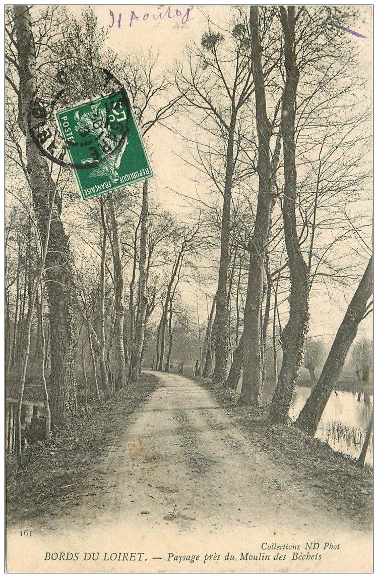 carte postale ancienne 45 MOULIN DES BECHETS 1908