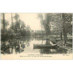 carte postale ancienne 45 MOULIN DES BECHETS 1915. Barque Bords du Loiret