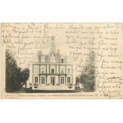 carte postale ancienne 45 NOGENT-SUR-VERNISSON. Château du Buisson 1904