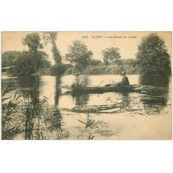 carte postale ancienne 45 OLIVET. Ballade en barque Bords du Loiret