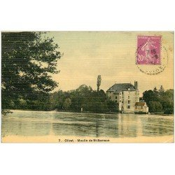carte postale ancienne 45 OLIVET. Moulin de Saint-Samson. Carte toilée 1932