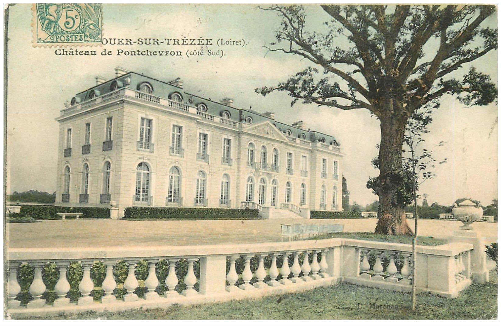 carte postale ancienne 45 OUZOUER-SUR-THEZEE. Château de Pontchevron