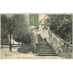 carte postale ancienne 45 PITHIVIERS. Les Promenades et Escaliers