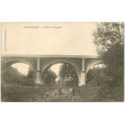 carte postale ancienne 45 PITHIVIERS. Viaduc de Segrais vers 1900