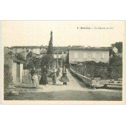 carte postale ancienne 11 BELVEZE. Le Chemin du Pré. Gendarmerie Nationale