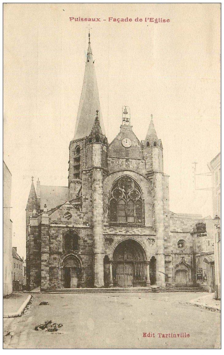 carte postale ancienne 45 PUISEAUX. Eglise 1930