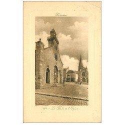 carte postale ancienne 45 PUISEAUX. Halle et Eglise 1910