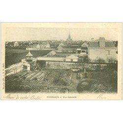carte postale ancienne 45 PUISEAUX. Vue générale sur les jardins 1905 (timbre manquant)