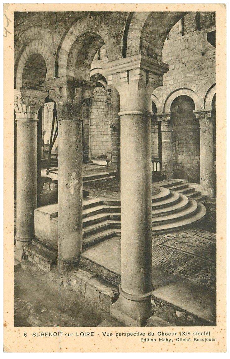 carte postale ancienne 45 SAINT-BENOIT-SUR-LOIRE. Basilique Choeur