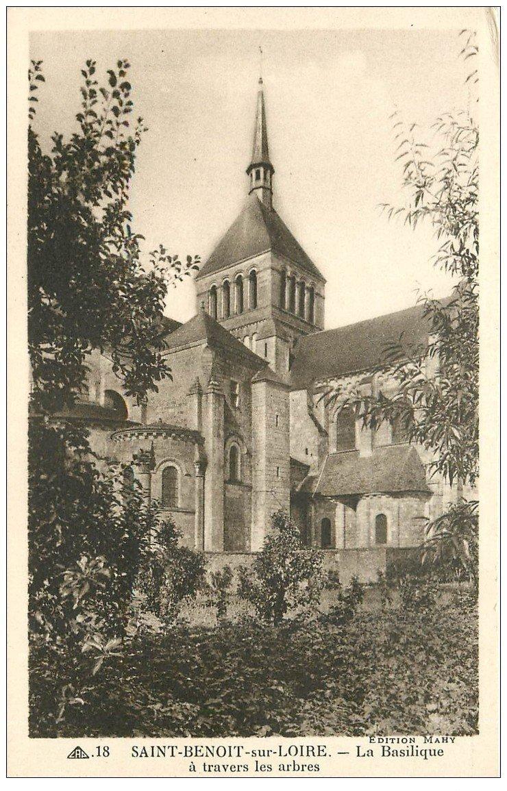 carte postale ancienne 45 SAINT-BENOIT-SUR-LOIRE. Basilique n°18