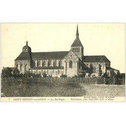carte postale ancienne 45 SAINT-BENOIT-SUR-LOIRE. Basilique n°7 1936