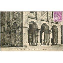 carte postale ancienne 45 SAINT-BENOIT-SUR-LOIRE. Basilique Porche
