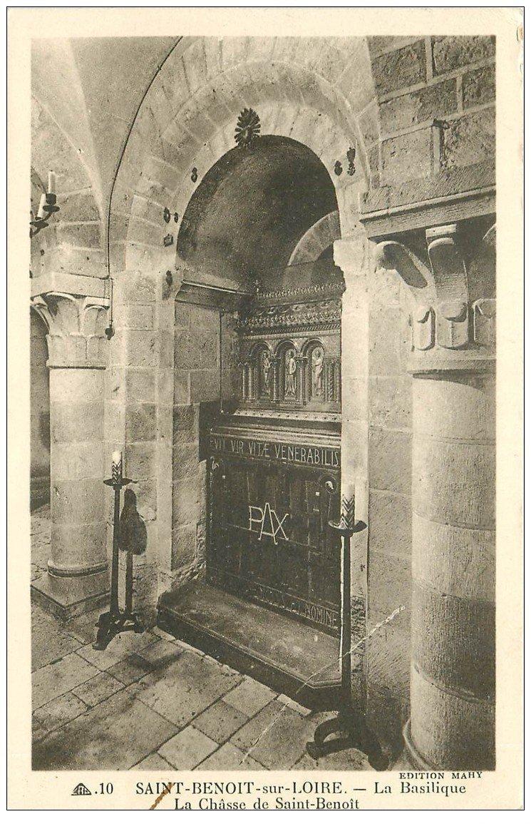 carte postale ancienne 45 SAINT-BENOIT-SUR-LOIRE. Châsse Saint-Benoit
