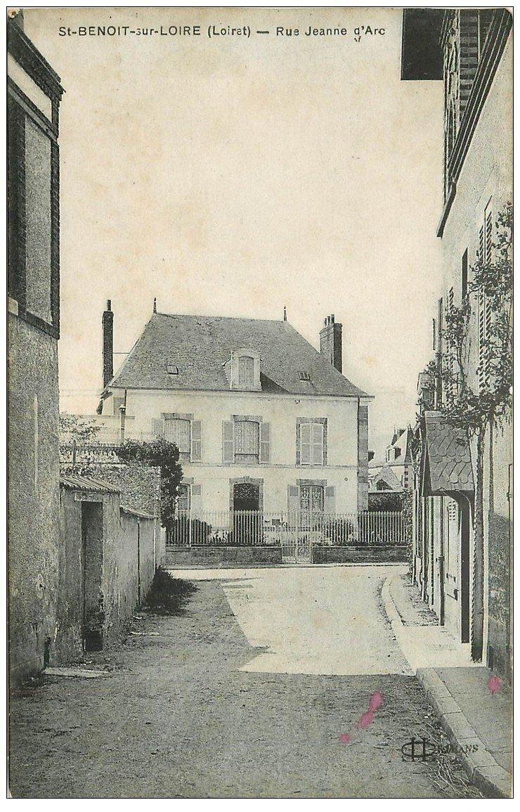 carte postale ancienne 45 SAINT-BENOIT-SUR-LOIRE. Rue Jeanne d'Arc