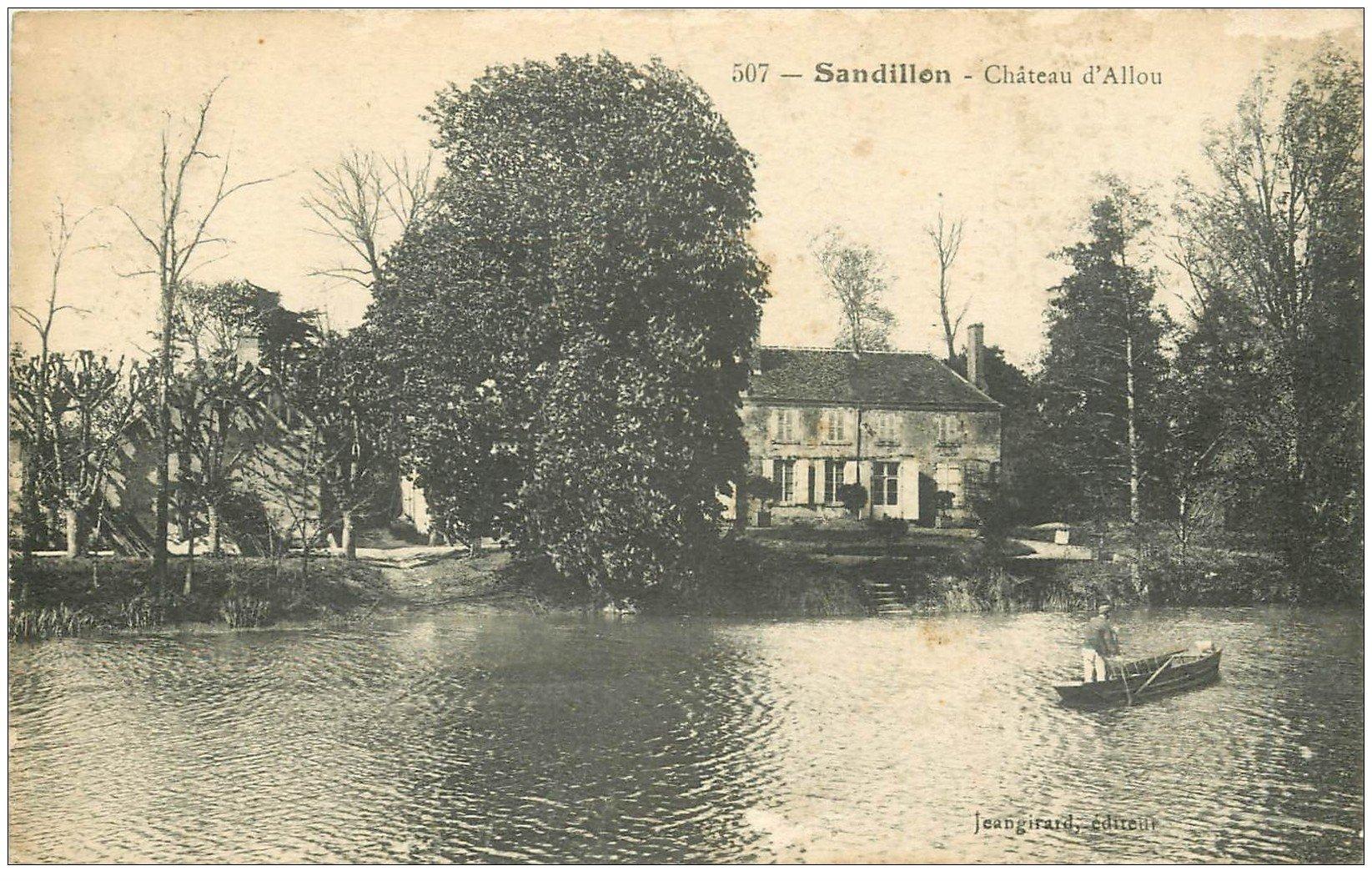 carte postale ancienne 45 SANDILLON. Château d'Allou