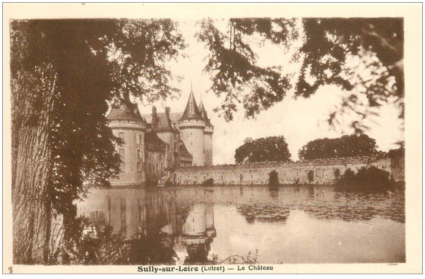 carte postale ancienne 45 SULLY-SUR-LOIRE. Château et Douves