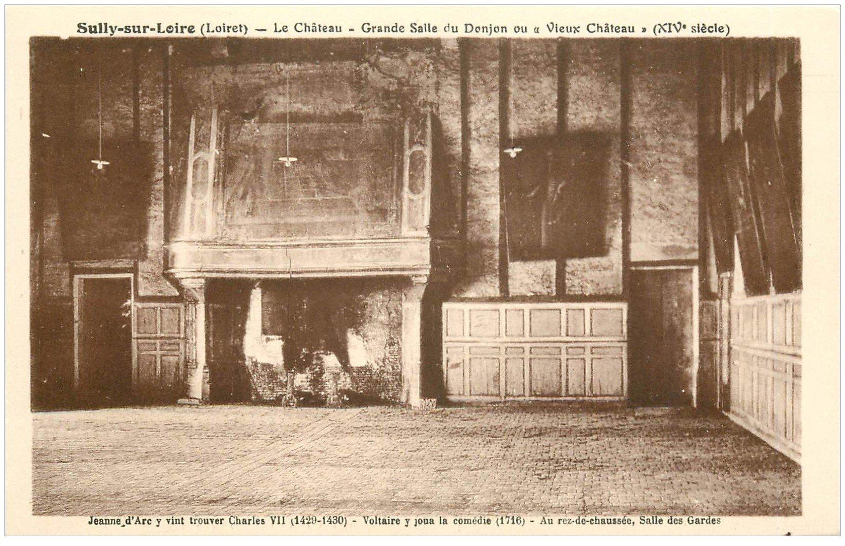 carte postale ancienne 45 SULLY-SUR-LOIRE. Château Salle du Donjon
