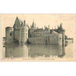 carte postale ancienne 45 SULLY-SUR-LOIRE. Château. Timbrée, oblitérée 1903 mais vierge...