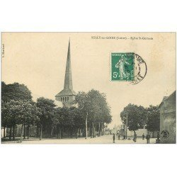 carte postale ancienne 45 SULLY-SUR-LOIRE. Eglise Saint-Germain 1910