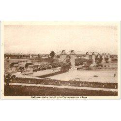 carte postale ancienne 45 SULLY-SUR-LOIRE. Pont suspendu sur Loire
