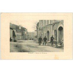 carte postale ancienne 11 BIZANET. Avenue de lNarbonne ouvriers