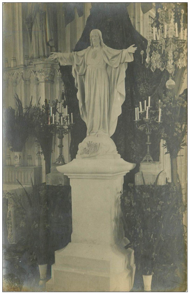 carte postale ancienne 45 TAVERS. Jésus Christ. Carte Photo
