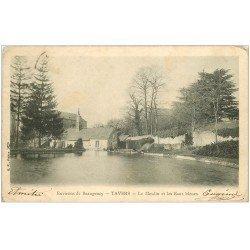 carte postale ancienne 45 TAVERS. Moulin et Eaux bleues 1904