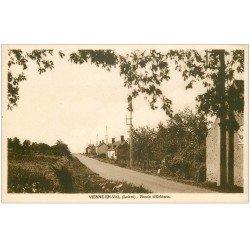 carte postale ancienne 45 VILLE-EN-VAL. Route d'Orléans
