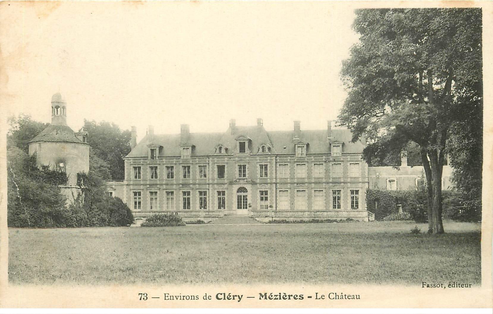 carte postale ancienne 45 MEZIERES. Le Château