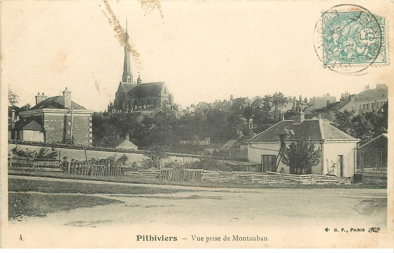 carte postale ancienne 45 PITHIVIERS vers 1905