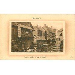 carte postale ancienne 45 MONTARGIS. Ruisseau et Tannerie 1918