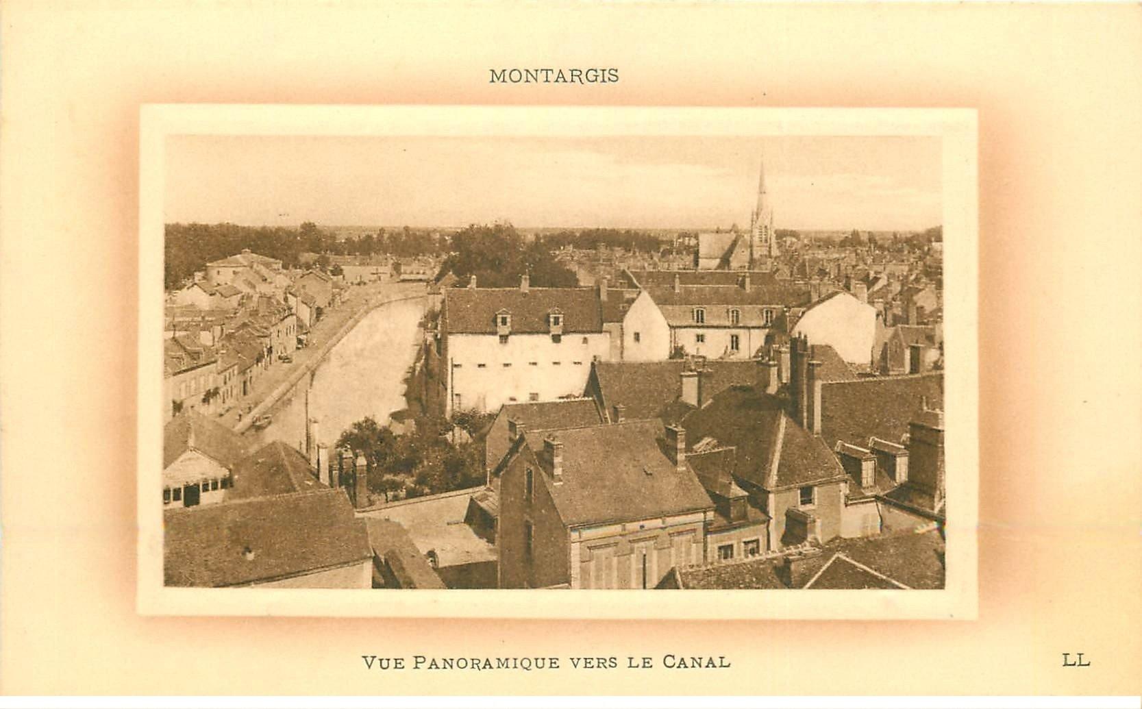 carte postale ancienne 45 MONTARGIS. Le Canal