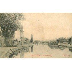 carte postale ancienne 45 MONTARGIS. Vue du Port 1905 Péniche