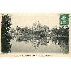 carte postale ancienne 45 LA FERTE SAINT-AUBIN. Château Chapelle 1913