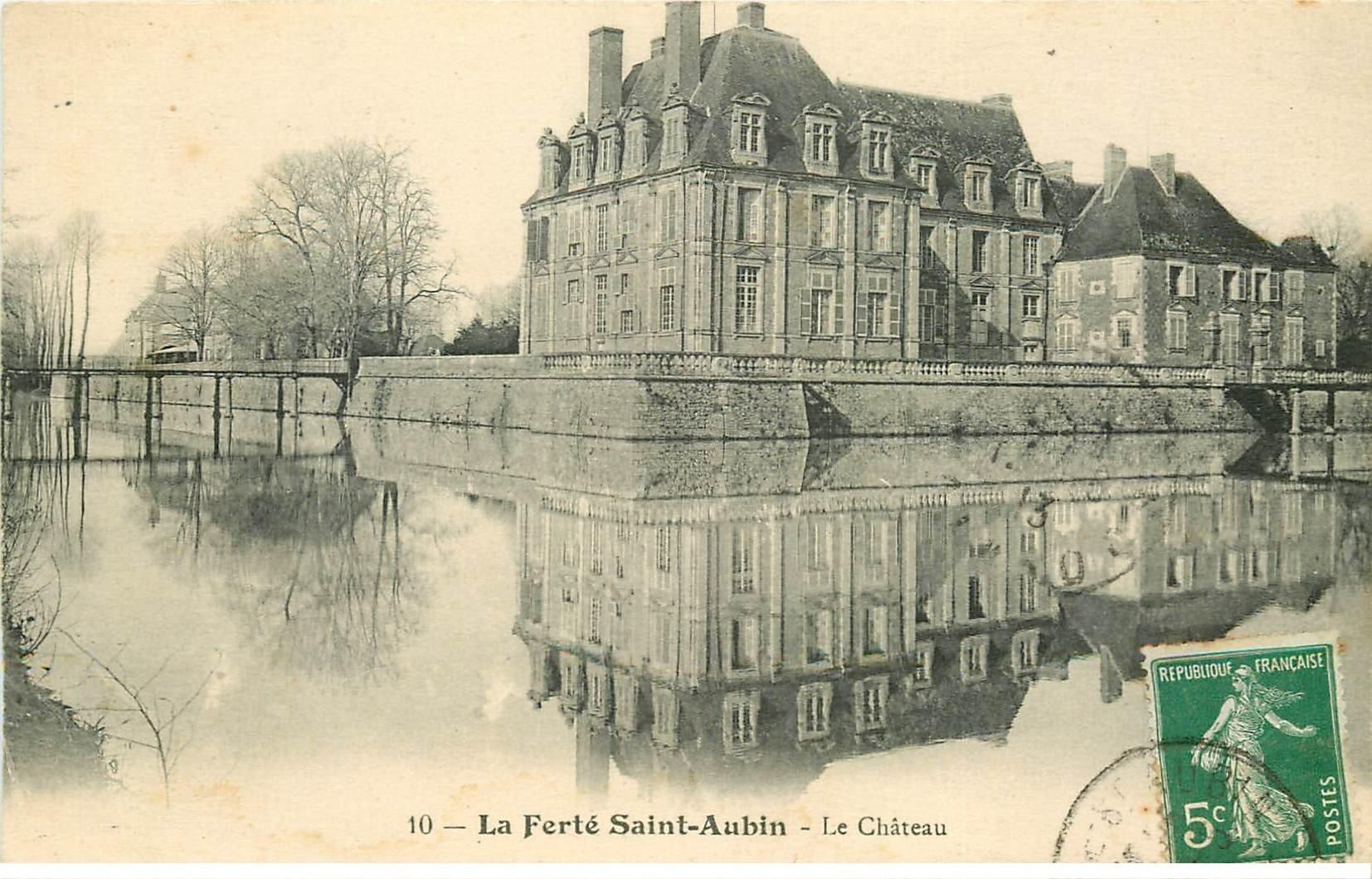 carte postale ancienne 45 LA FERTE SAINT-AUBIN. Le Château 1913